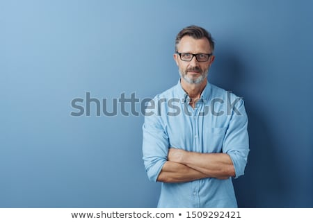 adam · dramatik · portre · keçi · sakalı · deri · ceket - stok fotoğraf © photography33