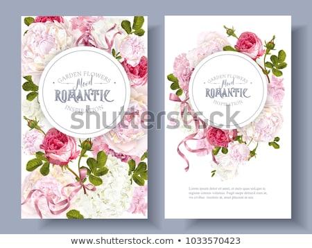 dört · afiş · grafik · sevgililer · günü · örnek · düğün - stok fotoğraf © kakigori