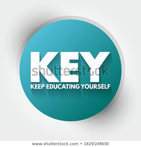 Acronym of Key for Keep Educating Yourself Stock photo © bbbar