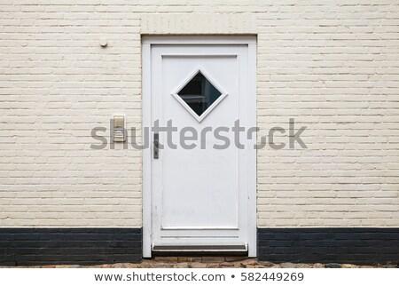 vintage door blocked by concrete blocks Stock photo © sirylok