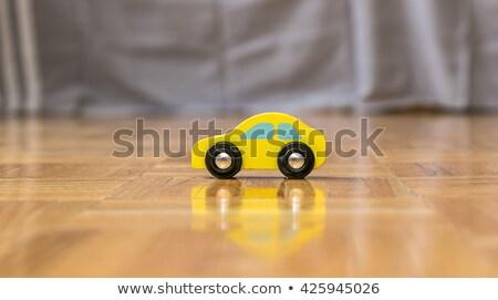 Rétro bois voiture modèle étage vieux Photo stock © urbanangel