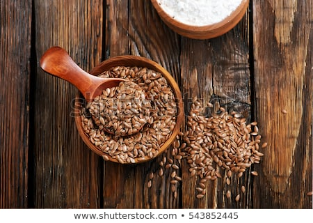 Brown Flax Seeds Stock photo © ildi