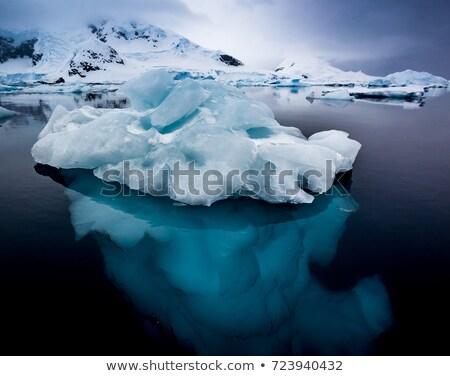 buzdağı · deniz · üzerinde · altında · su · okyanus - stok fotoğraf © timwege