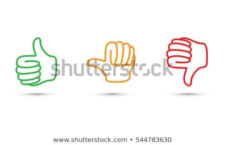 Thumbs Down Sign on Red Background stock photo © scheriton