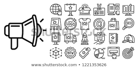 vecteur · design · illustration · icônes · web · logos - photo stock © mikemcd