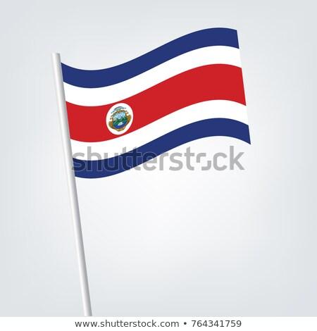 Miniatura bandera Costa Rica aislado reunión Foto stock © bosphorus