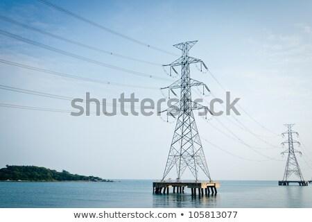 erő · transzformátor · részlet · tájkép · ipari · energia - stock fotó © rufous