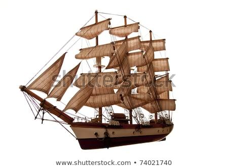 Model ship - travel sailboat sea ocean sport navigation boating Stock photo © jeremywhat