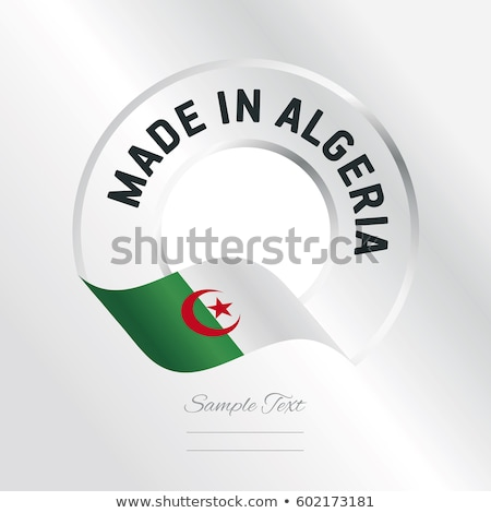vector label Made in Algeria Stock photo © perysty