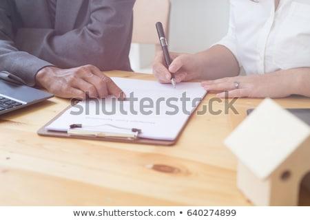 Hypothek Darlehen Anwendung Form Tabelle Business Stock foto © REDPIXEL