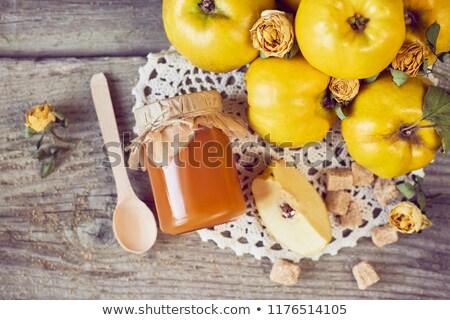 айва желе стекла плодов фрукты осень Сток-фото © joker