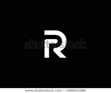 Litera r metal obiektu biały tle wydruku Zdjęcia stock © creisinger