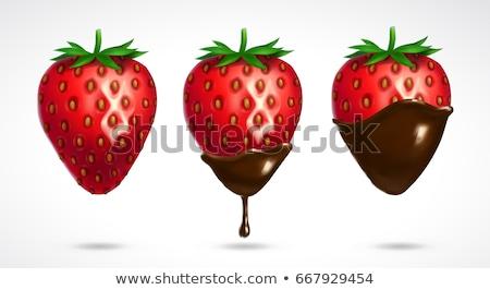 Chocolate Dipped Strawberry - vector illustration  Stock photo © meshaq2000