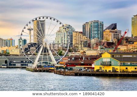 Seattle · groot · wiel · teken - stockfoto © HdcPhoto