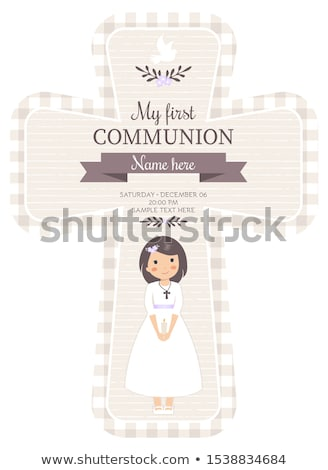 lovely first communion card Stock photo © marimorena