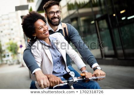 Interracial couple smiling Stock photo © photography33