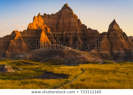 Stock fotó: Scenic View At Badlands National Park South Dakota Usa