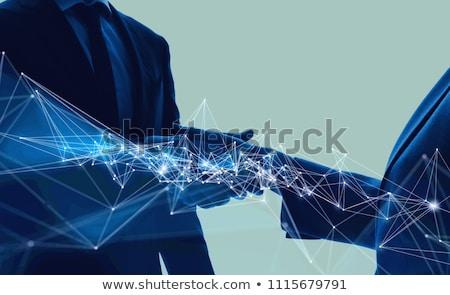 решения · команда · бизнеса · два · бизнесменов - Сток-фото © lightsource