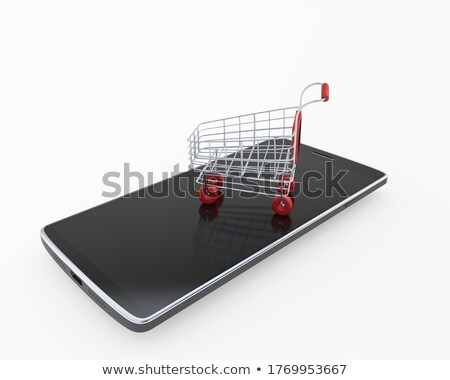 ilustração · 3d · comprar · bens · internet · on-line · compras - foto stock © kolobsek