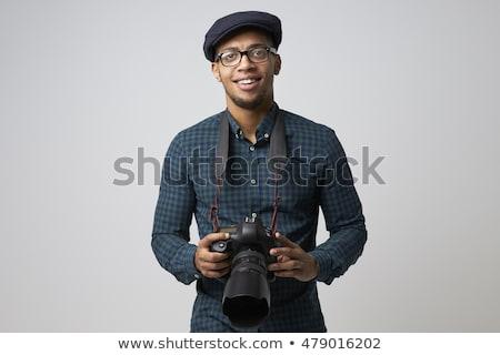 肖像 男性 カメラマン カメラ 白 Tシャツ ストックフォト © wavebreak_media