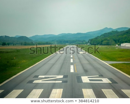 Stock photo: Small Runway in the Mountains