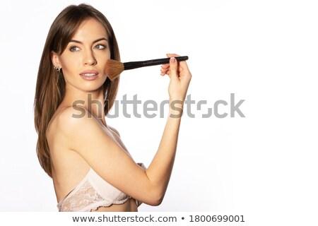 Adorable girl in white bra posing isolated Stock photo © dash