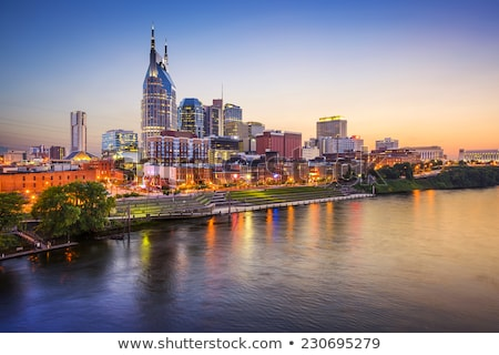 downtown nashville cityscape in the night stock photo © andreykr