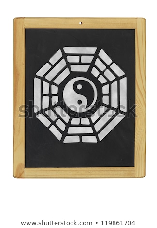 Simge tahta çerçeve enerji işaretleri Çin Stok fotoğraf © Zerbor