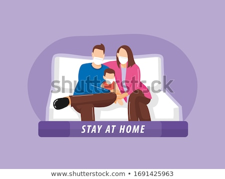 mother with son sitting and spreading love Stock photo © Jasminko