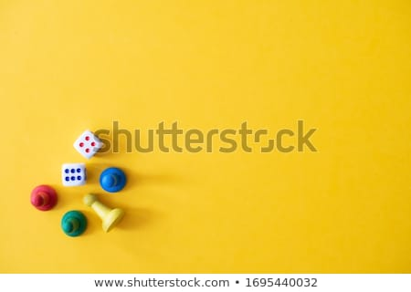 Stock fotó: Board Game Pieces And Dice