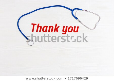 a doctors stethoscope on a white background with space for text stock photo © tish1