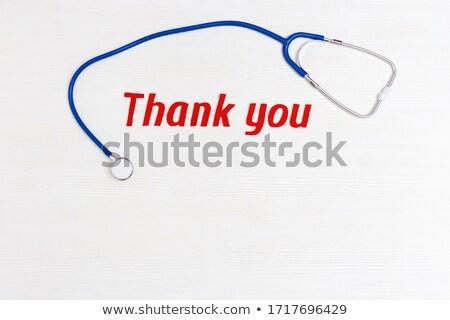 Médicos estetoscópio branco espaço texto médico Foto stock © tish1