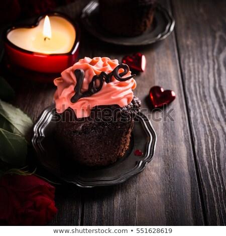 製菓 · バレンタイン · 心 · 先頭 · 表示 · ピンク - ストックフォト © aladin66