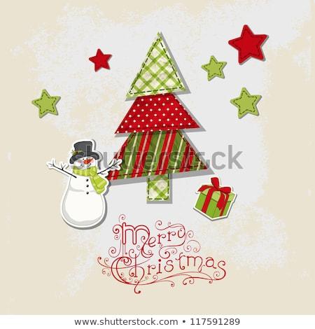 vecteur · Noël · décoration · papier · isolé - photo stock © alexmakarova