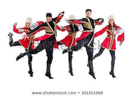 attrattivo · giovani · ballerino · indossare · russo · costume - foto d'archivio © stepstock