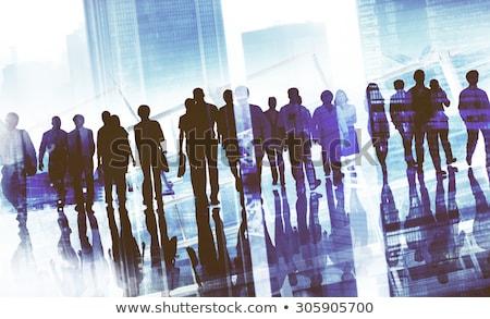 Em movimento trabalhar mulher de negócios em pé pronto lata Foto stock © jayfish