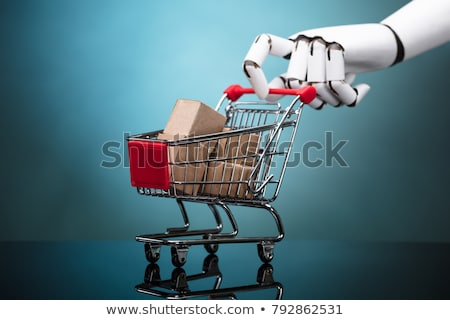 robot · winkelen · 3d · render · zak · markt - stockfoto © kirill_m