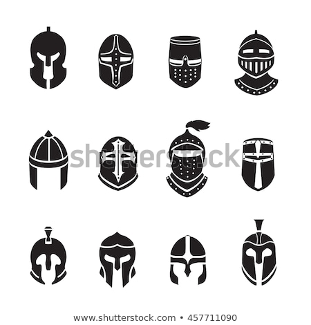 Medieval knight in helmet Stock photo © ryhor