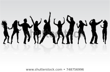 silhouette dancing people for design vector illustration stock photo © leonido