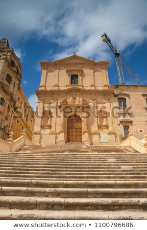 Ruin historic palace in Noto Stock photo © CaptureLight