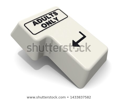 adults only message on enter key stock photo © redpixel