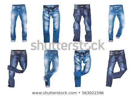 Photo stock: Adolescente · bleu · denim · robe · vêtements