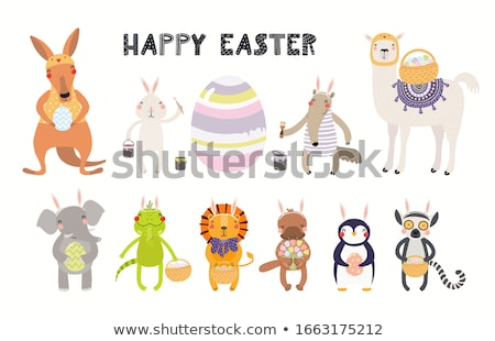 Stock photo: Easter kawaii set