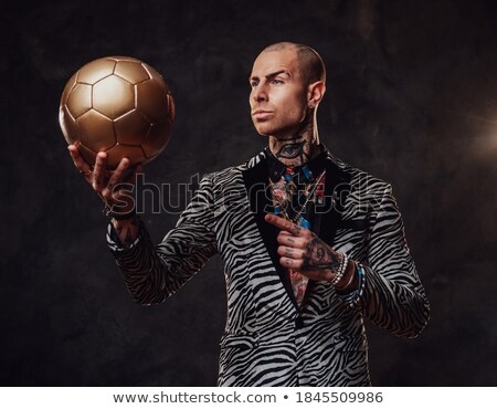 pensive young man and a ball of light Stock photo © feedough