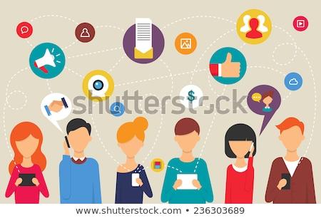 Sociale personnes communication processus vecteur affaires Photo stock © burakowski