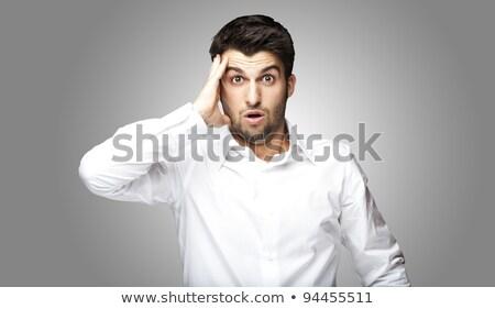 Portré spanyol férfi megrémült arckifejezés üzlet Stock fotó © pxhidalgo