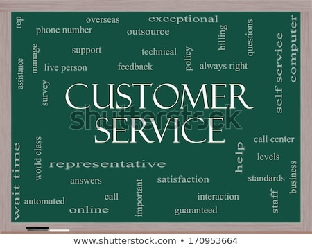 Stockfoto: The Customer Is Always Right Chalk Illustration