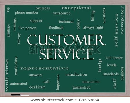 Cliente sempre direito giz ilustração pessoa Foto stock © kbuntu