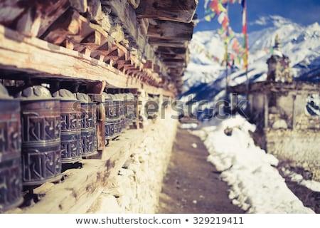 Nepalese village in the Annapurna region Stock photo © dutourdumonde