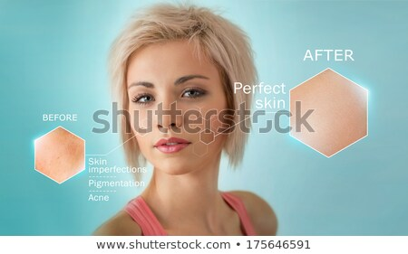 Stock photo: Bright closeup portrait of beautiful woman with skin crops